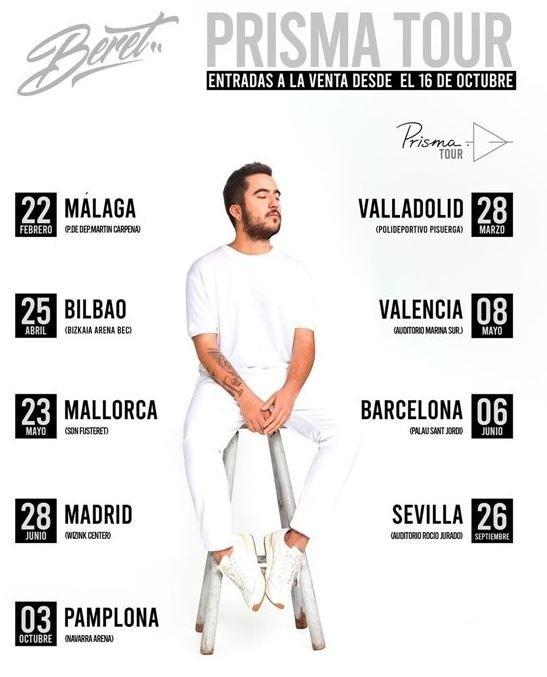Beret actuará en Pamplona el próximo 3 de octubre