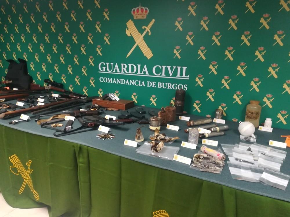El detenido por la Guardia Civil tenía también explosivos