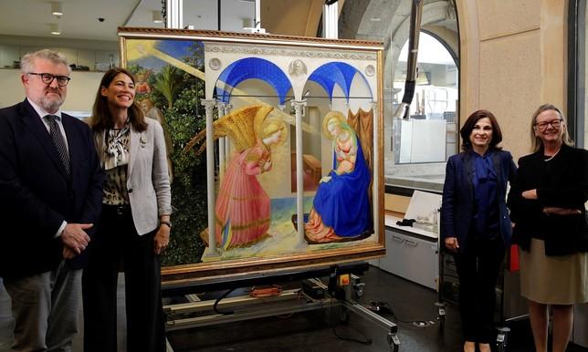 'La Anunciación' de Fra Angélico recupera su resplandor  Carlos Pérez