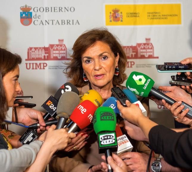 Carmen Calvo no contempla nuevas elecciones