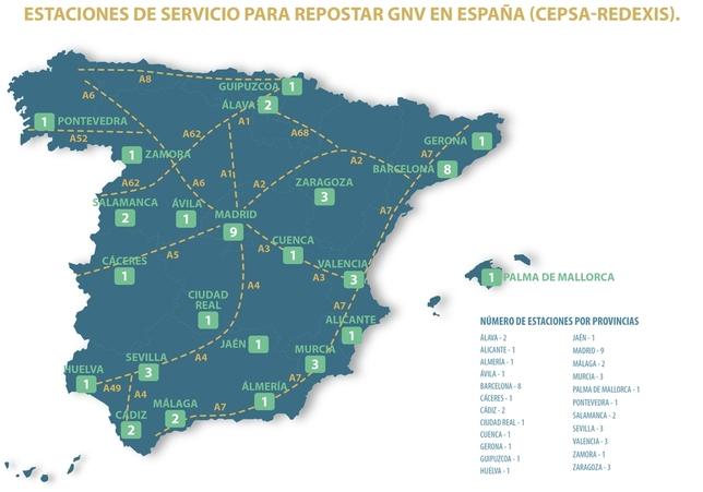 Redexis instalará gasineras en 50 estaciones Cepsa