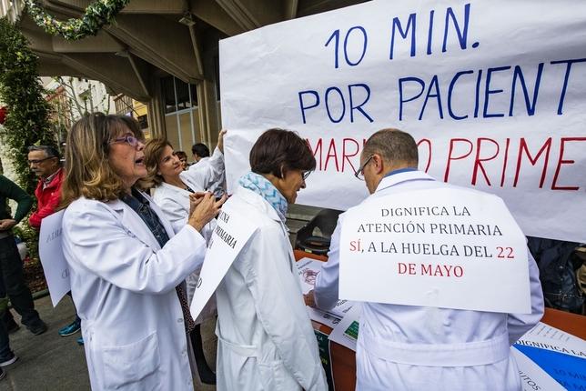 Protesta de los médicos de primaria Fotos Rueda Villaverde