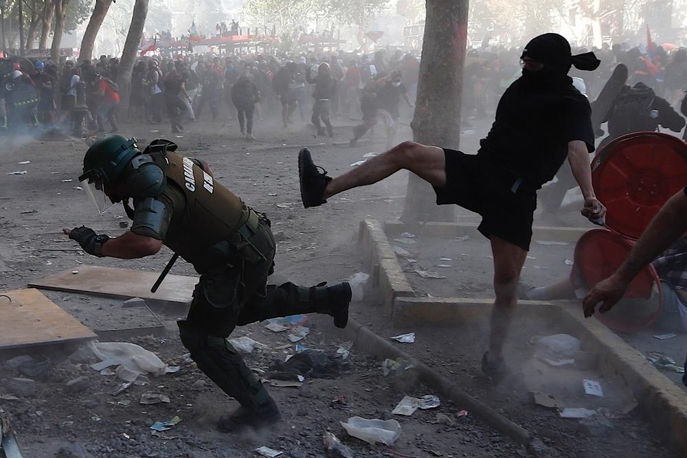 La última protesta en Chile dejó 849 detenidos y 46 heridos