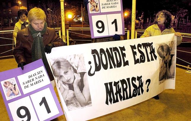 La desaparición de Marisa Villaquirán movilzó a los mirandeses. Aunque su cuerpo nunca ha aparecido, su exmarido fue condenado a 14 años por detención ilegal.  Truchuelo