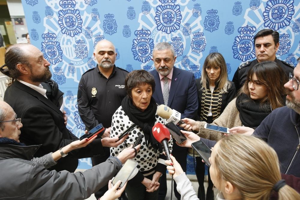 Mercedes Martín ha presentado la operación acompañada del comisario jefe provincial, Jesús María Nogales.
