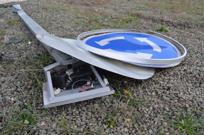 La Guardia Civil investiga a un 'kamikaze' en la A-15