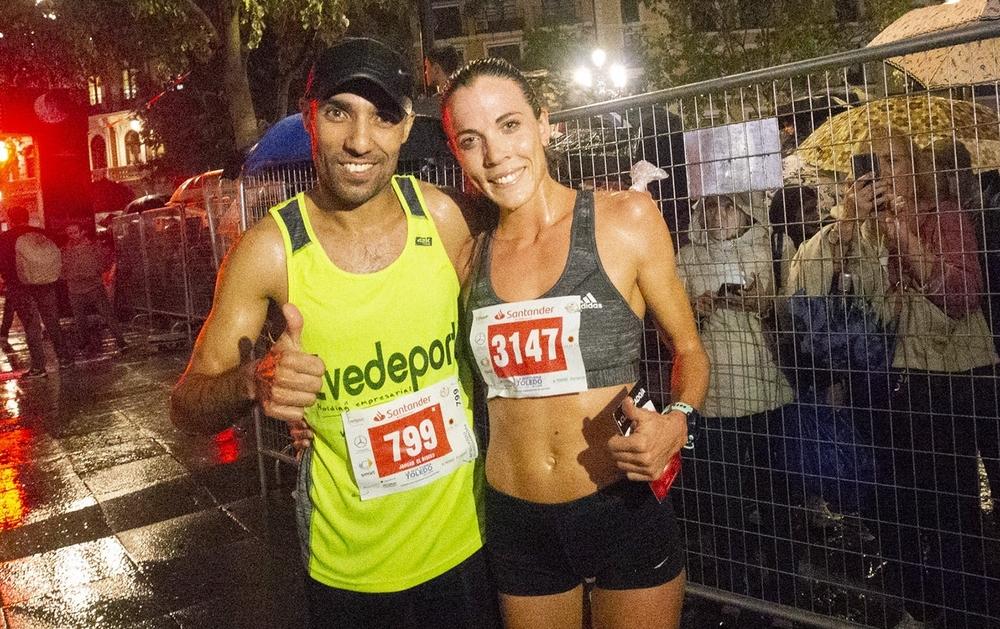 Los dos ganadores de la noche: Jaouad Elbissis y María Varo