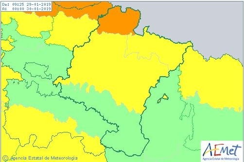 Navarra sigue hoy en riesgo por fuertes vientos