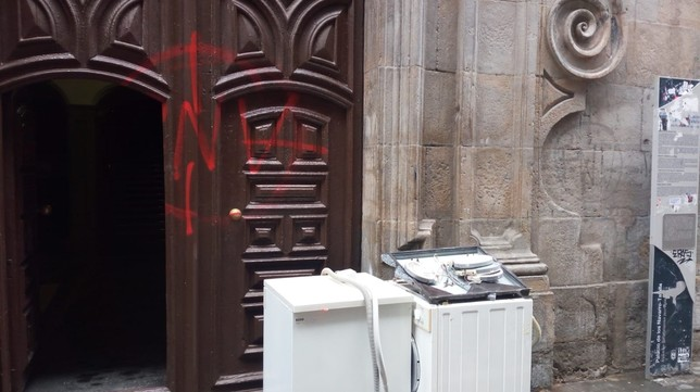 Así dejó Pamplona la manifestación en apoyo al gaztetxe
