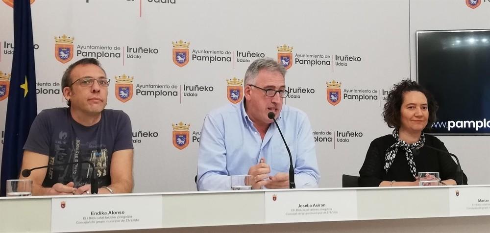EH Bildu votará en contra de los presupuestos de Pamplona