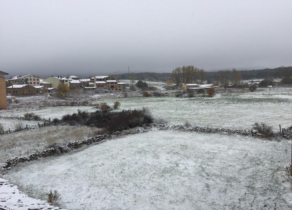 Primeras nevadas de la temporada en la provincia de Soria