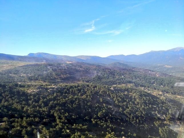 Fotos y vídeo aéreo de la zona quemada en La Granja
