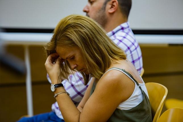 La viuda del director del banco asesinado tras escuchar el veredicto Rueda Villaverde