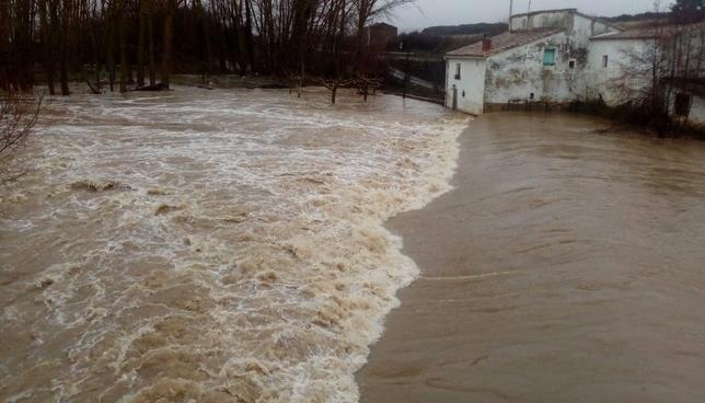 Río Ega a su paso por Ancín Policía Foral