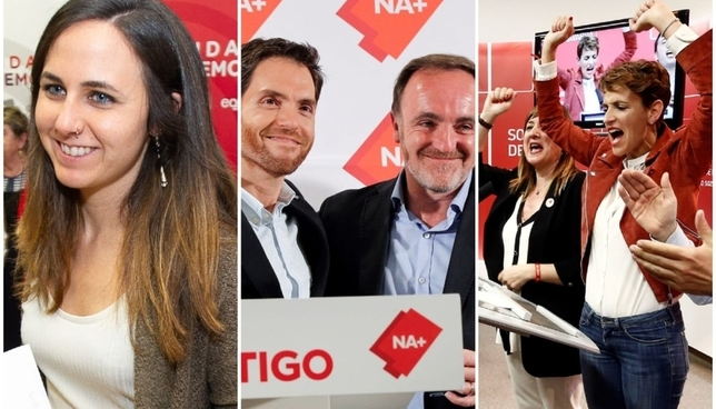 Navarra Suma y PSN consiguen dos diputados, y Podemos, una