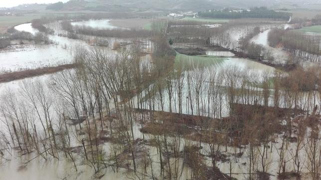 Confluencia de los ríos Arakil y Arga en Ibero