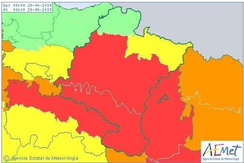 Riesgo extremo en media Navarra por altas temperaturas AEMET