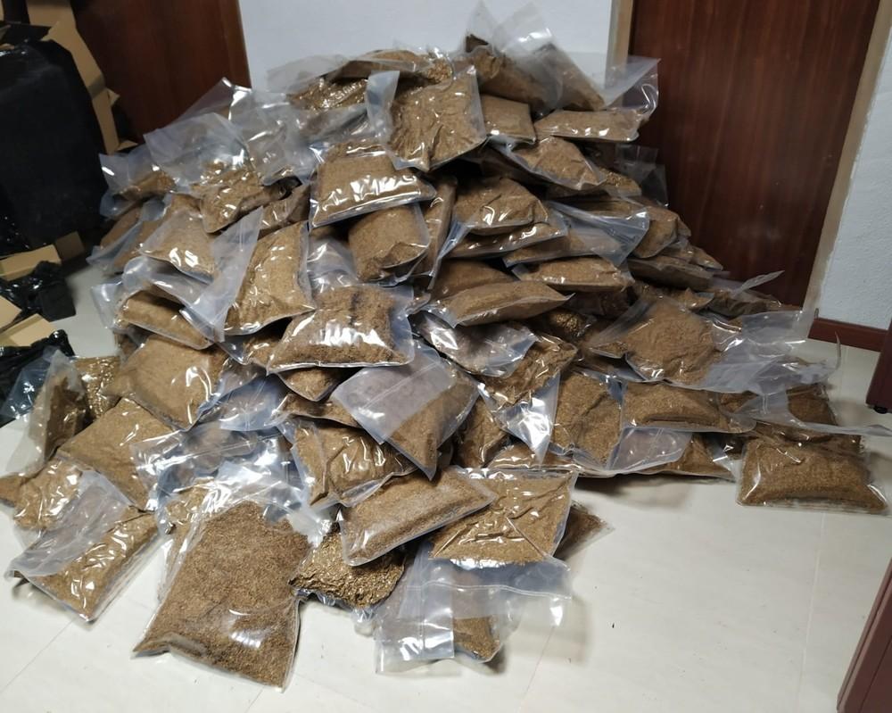 Imagen del tabaco de contrabando intervenido