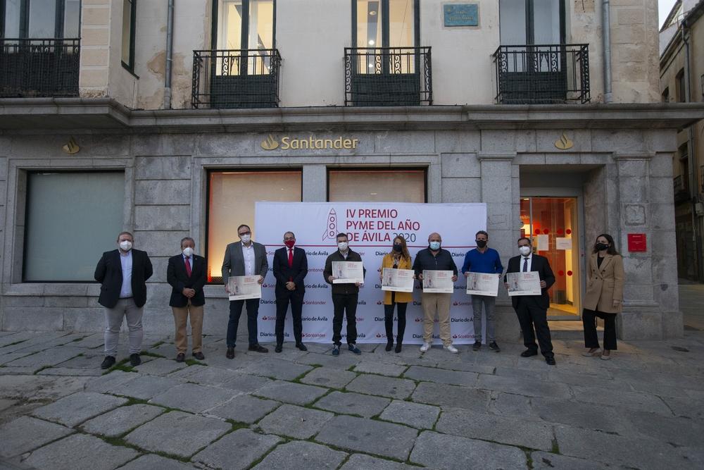 Premio Pyme del Año de Á?vila 2020 Banco Santander.