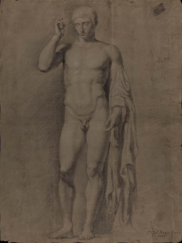 Francisco Javier Ramos y Albertos: Estudio de la escultura de Claudio Marcelo anteriormente llamado Germánico (sig. P-1230)