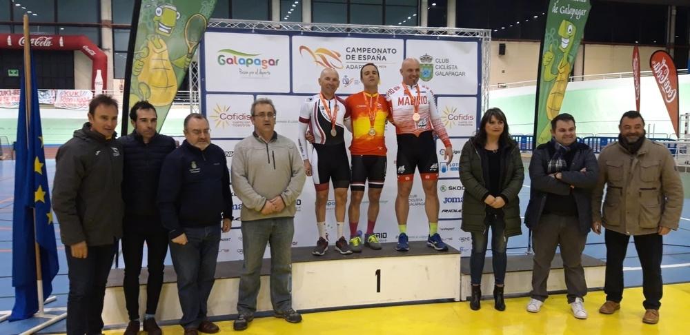 Pedro Sánchez Migallón (a la izquierda), subcampeón de España en C4.
