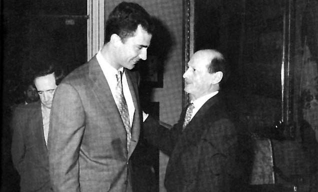 Con el entonces príncipe Felipe, en 1997.