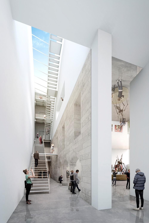 Recreación del interior del Museo de Burgos.