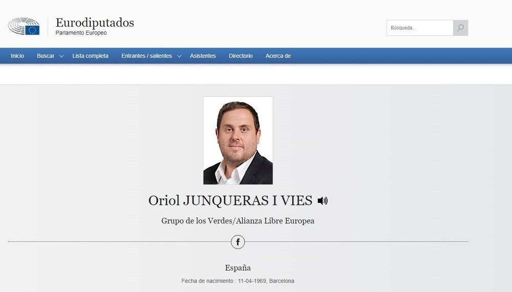 Los Verdes europeos eligen a Junqueras como vicepresidente