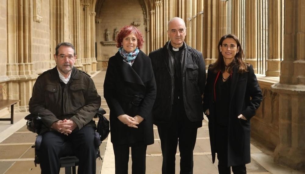 El claustro de la Catedral de Pamplona luce nueva imagen