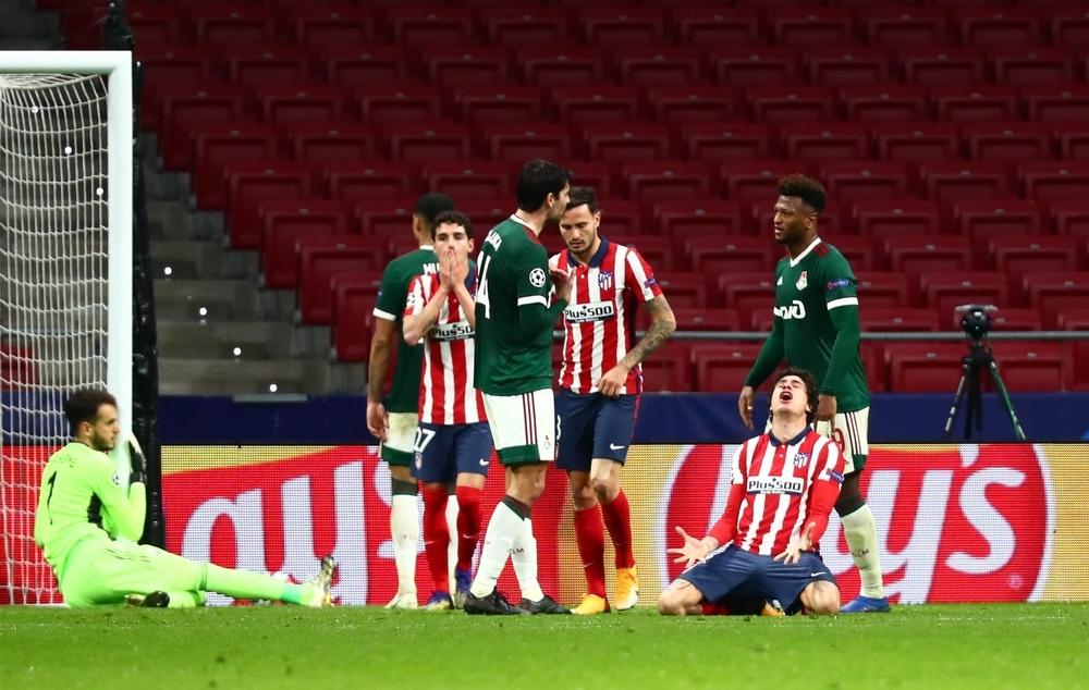 El Atlético se queda seco