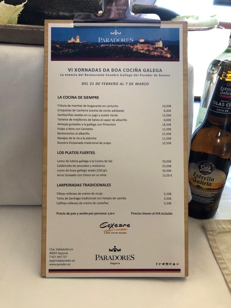 Jornadas gastronómicas de la cocina gallega en el Parador