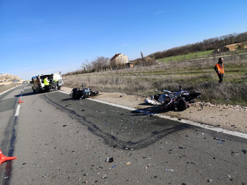 Una motorista de 54 muere en Velilla de San Esteban