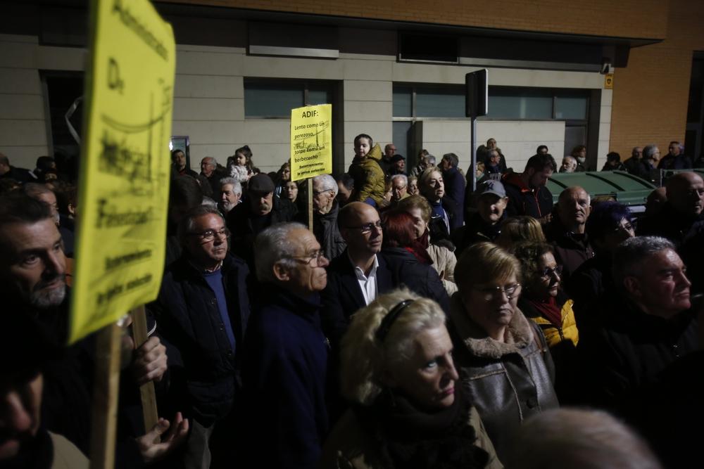 Manifestación de los vecinos del barrio de Pilarica y Belén