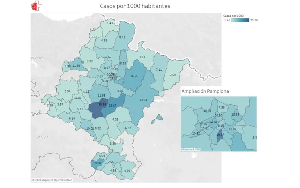 Curadas una de cada tres personas contagiadas en Navarra