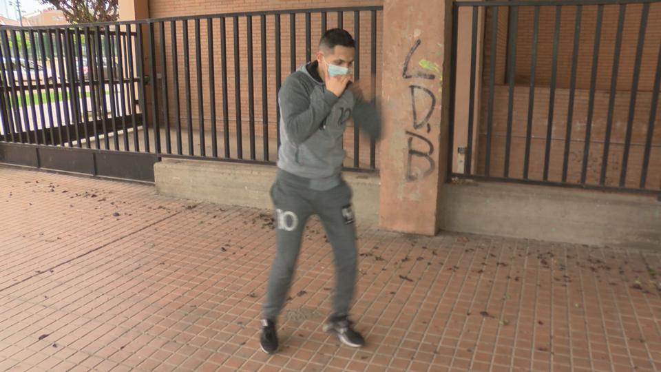 El boxeo se practica en la calle
