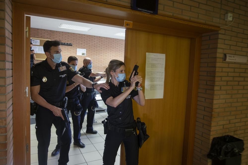 La escuela de policia retoma su actividad tras la crisis del coronavirus.
