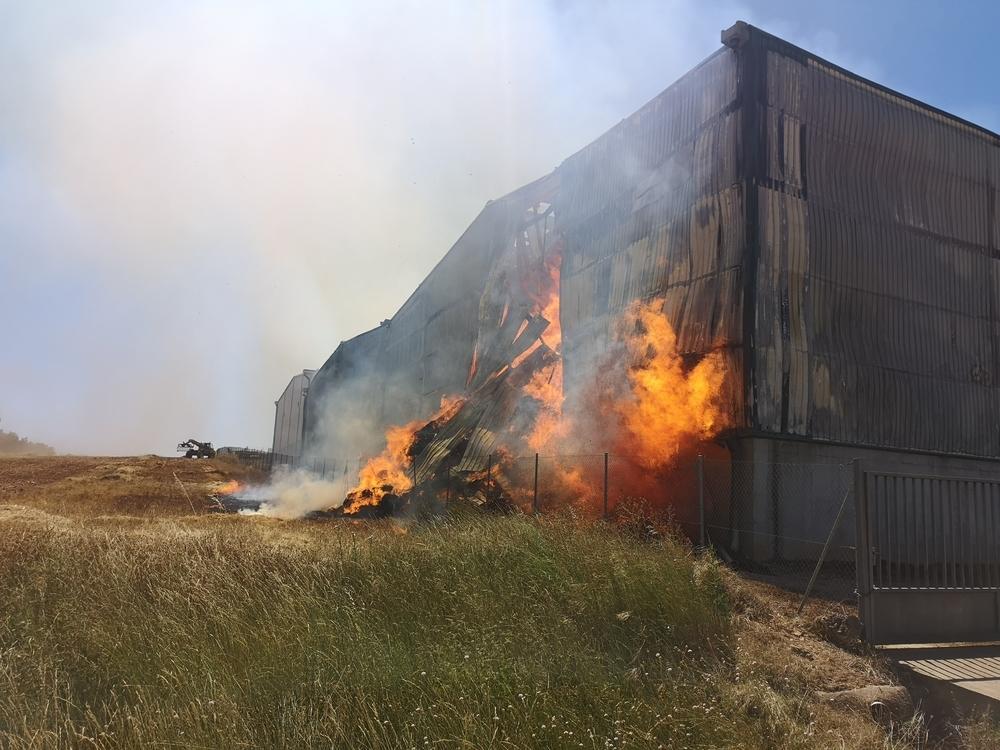 Incendio en una nave de Almazán