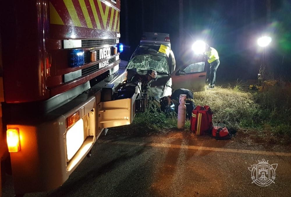 Una mujer resulta herida en un accidente en la carretera PP-6112.