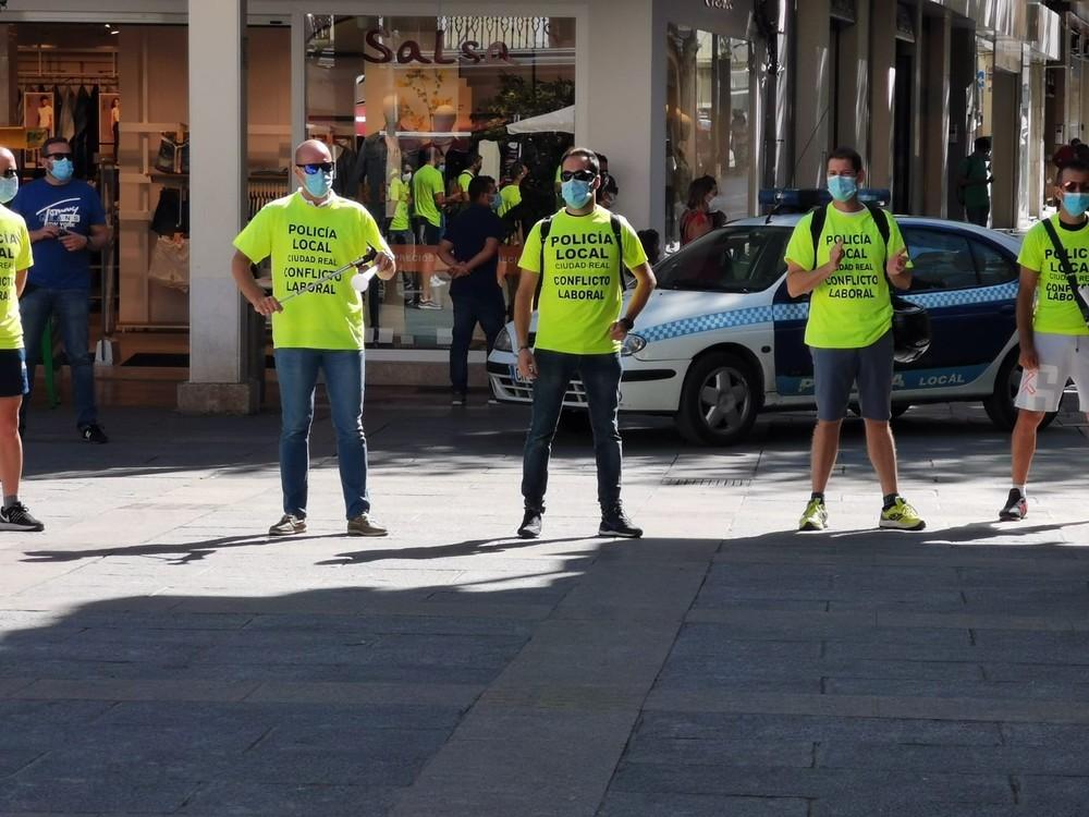 Nueva protesta de policías locales en Ciudad Real