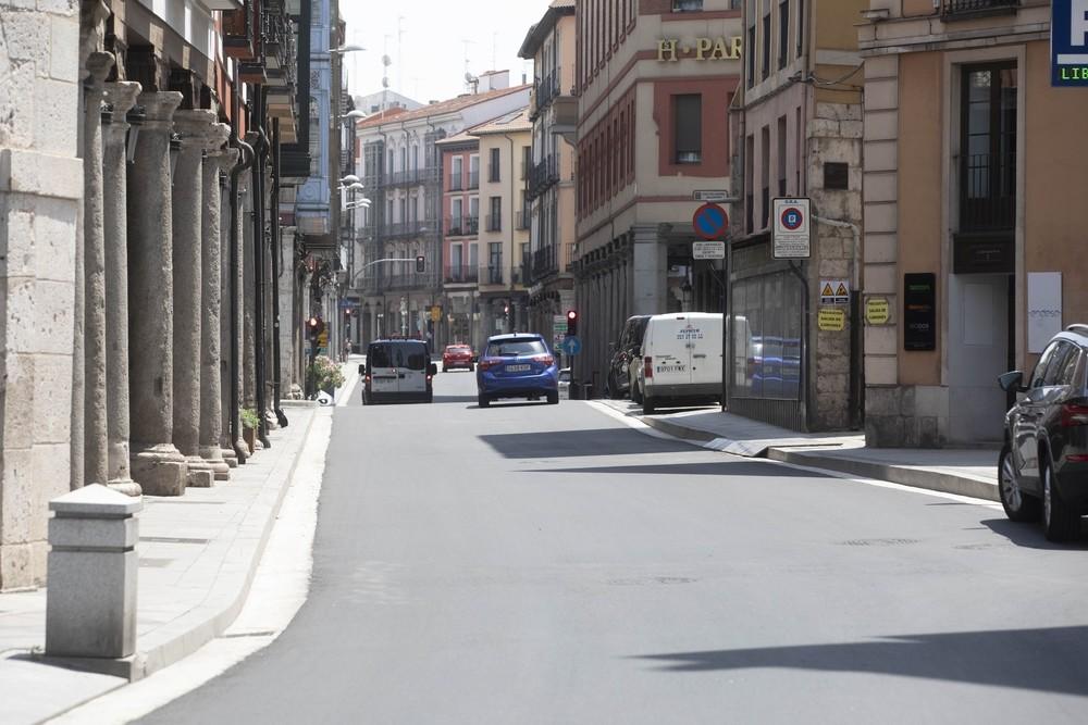 Zona de Cebadería y Fuente Dorada recién asfaltada.