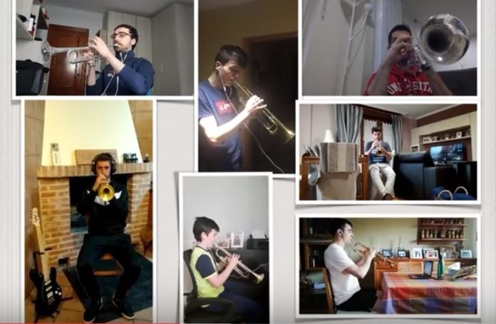 La banda de Artajona ensaya 'Pasodoble 11' desde casa