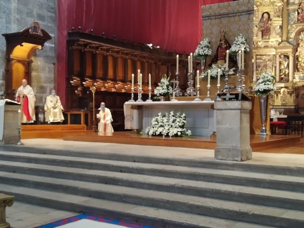 Blázquez, durante la misa