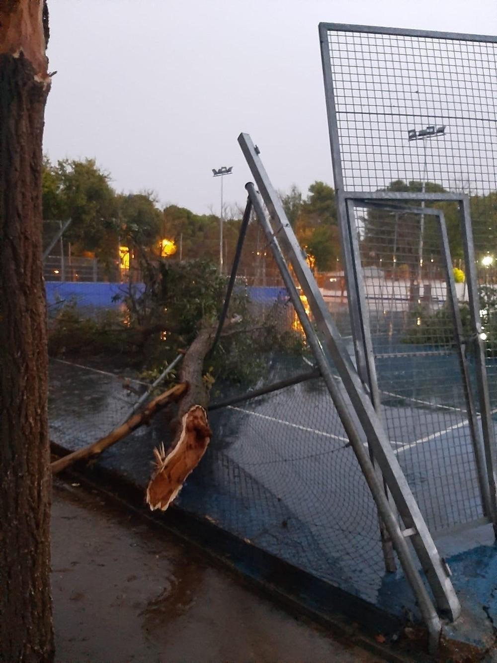 Una tormenta provoca importantes daños materiales en Alcázar