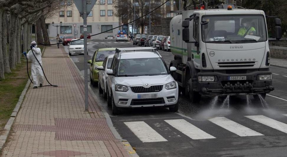 Comienzan los trabajos de desinfección en Ávila capital