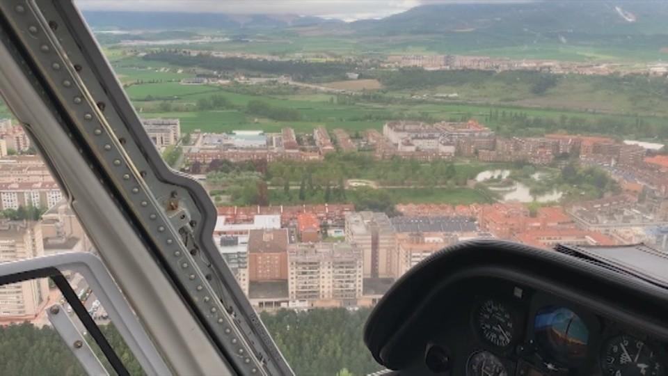 Sobrevolar Navarra en pleno estado de alarma