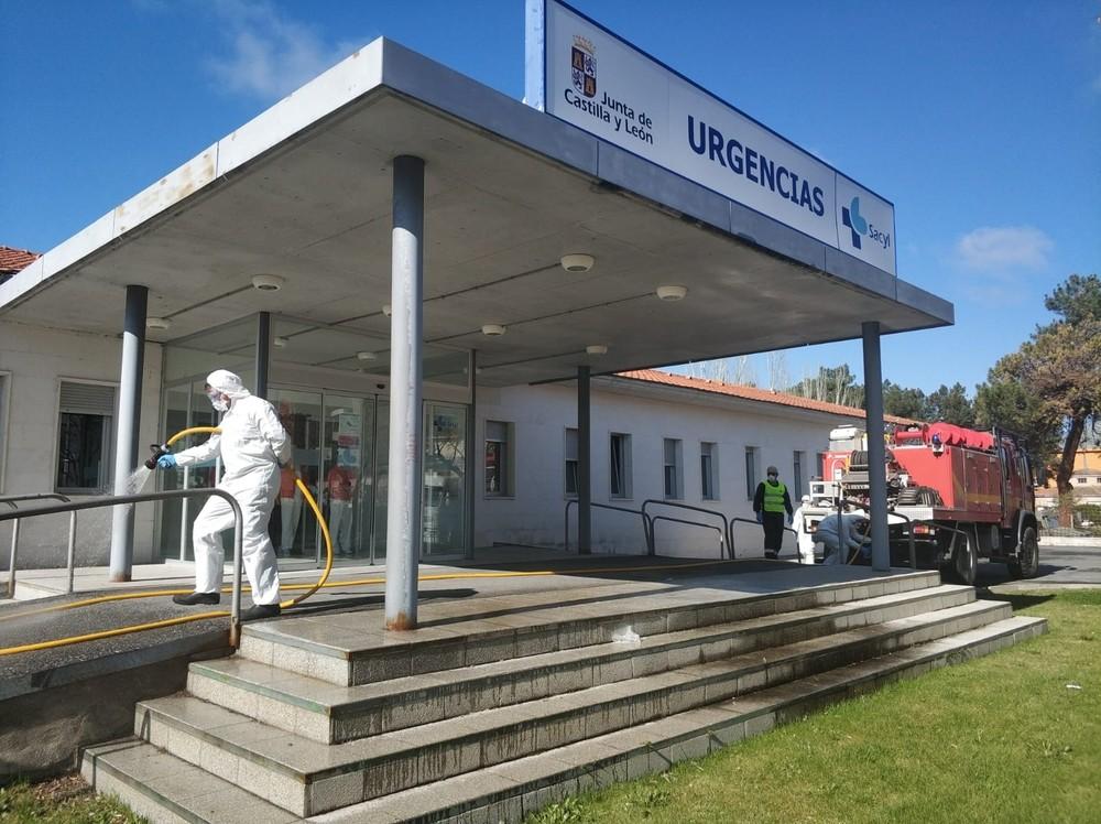 Se intensifican las labores de desinfección en Arévalo