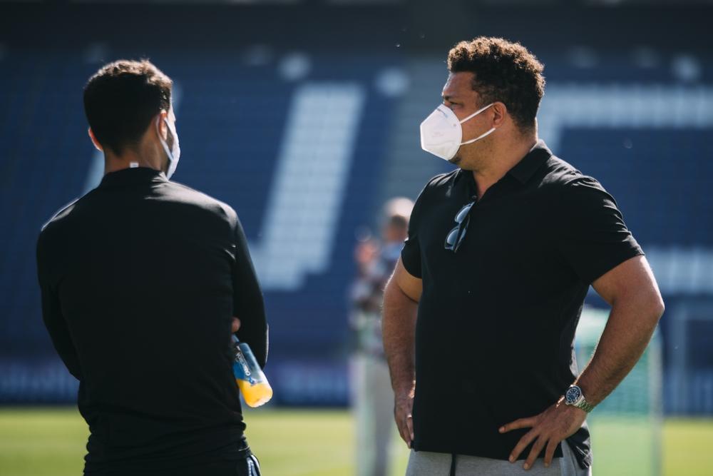 Ronaldo visita el entrenamiento del Real Valladolid