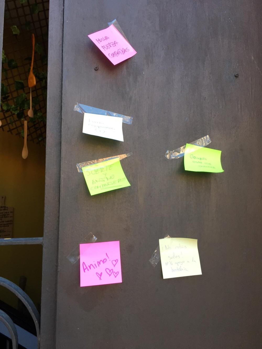 Alumnos de hostelería apoyan al sector con mensajes de ánimo