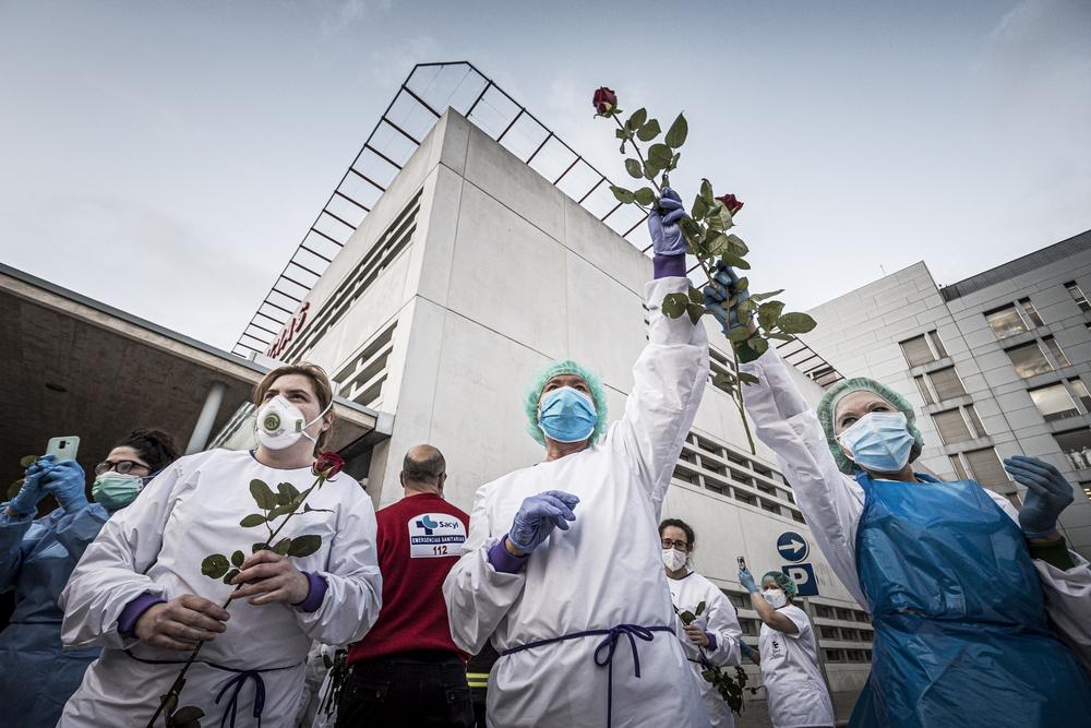 Homenaje al personal sanitario