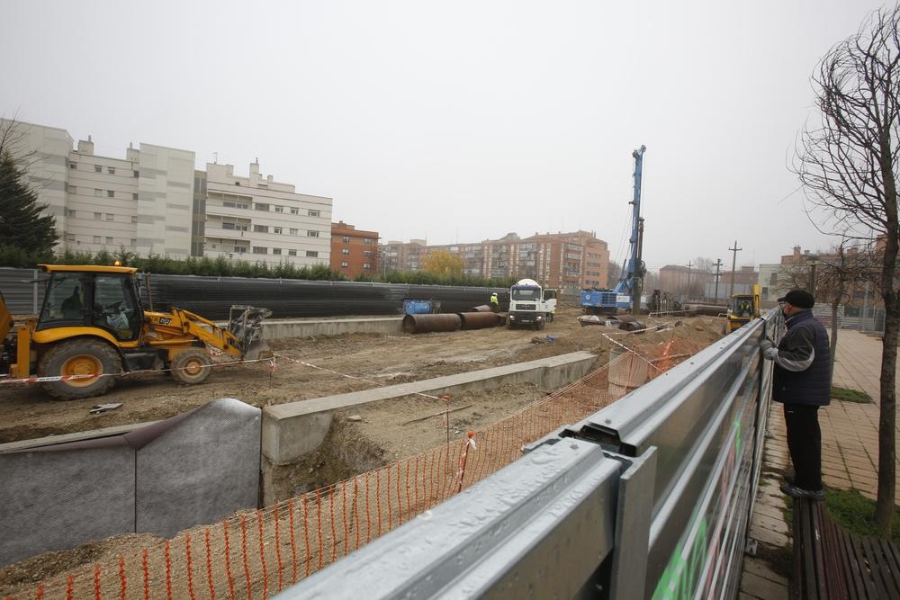 Obras del túnel de la calle Andrómeda